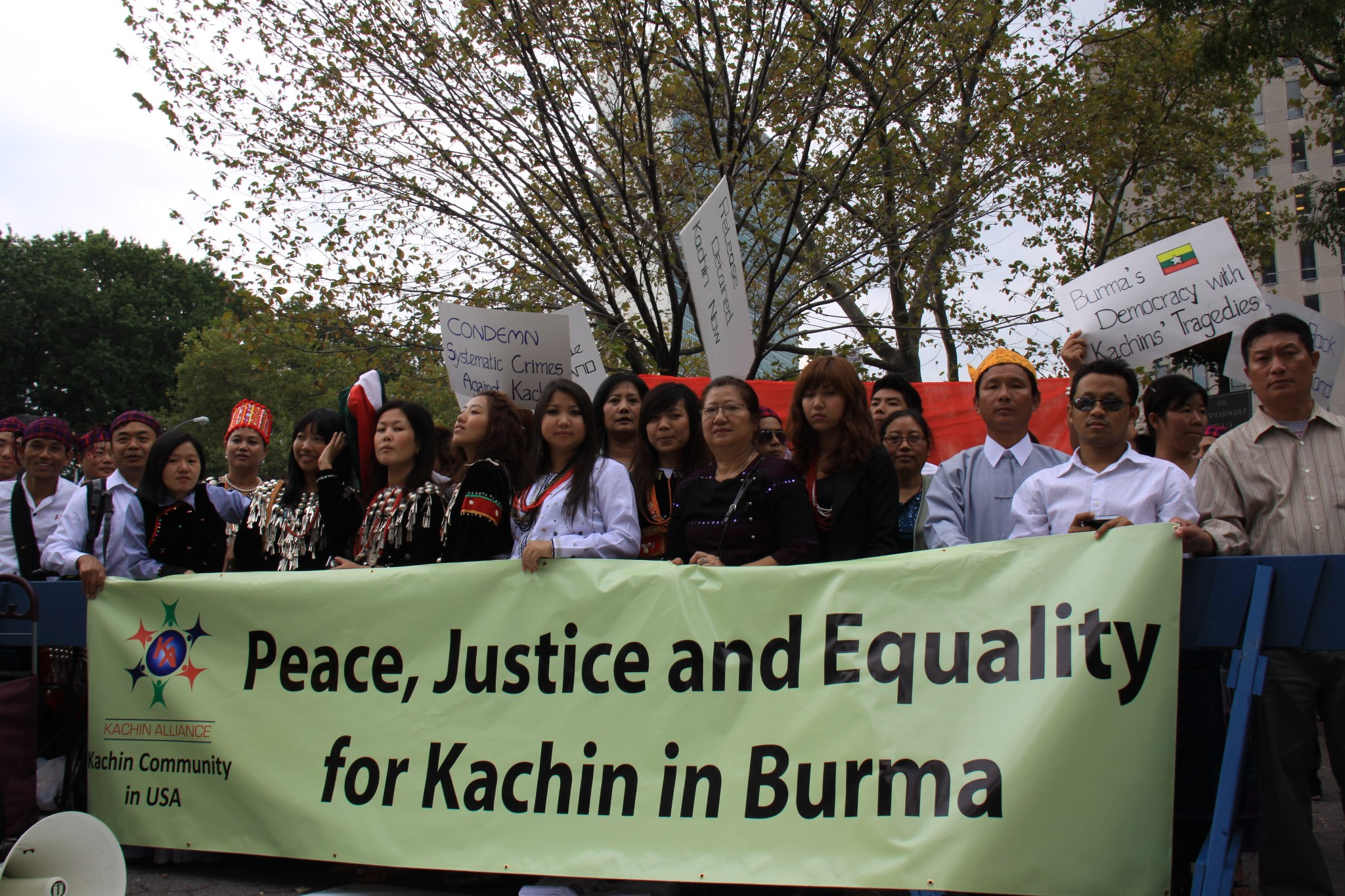 Demonstrations Against Burma Army's Offensives
